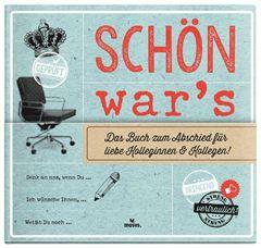 Bild von Schön war's. Das Buch zum Abschied für liebe Kolleginnen und Kollegen, VE-1