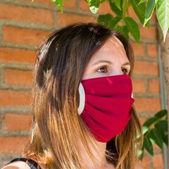 Image de Miss Wood Mask - Cotton - Cavallería (Red)
