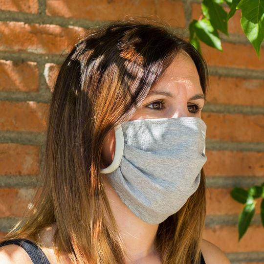 Picture of Miss Wood Mask - Cotton - Estreta (Grey)