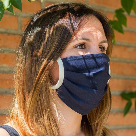 Picture of Miss Wood Mask - Cotton - La Fosca (Blue)